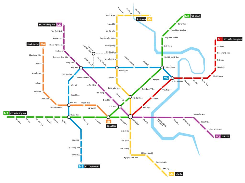 Ho Chi Minh City proposed metro map 2017